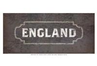 """Vintage Sign - England by Lev Raskolnikov - 19"""" x 13"""", FulcrumGallery.com brand"""
