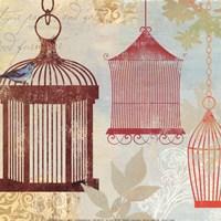 "Bird on a Cage II by Aimee Wilson - 12"" x 12"""