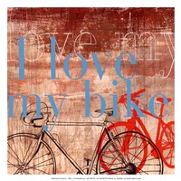 Love my Bike - Mini Fine Art Print