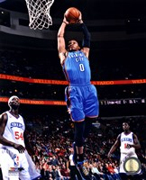 Russell Westbrook 2012-13 Action in basketball Fine Art Print