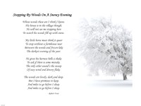 Stopping by Woods on a Snowy Evening by Robert Frost Fine Art Print