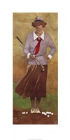 """Vintage Woman Golfer by Bart Forbes - 18"""" x 35"""" - $23.49"""