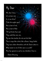 My Star by Robert Browning - long - various sizes, FulcrumGallery.com brand