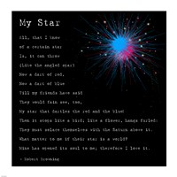 My Star by Robert Browning - various sizes