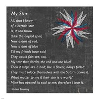 My Star by Robert Browning - gray - various sizes