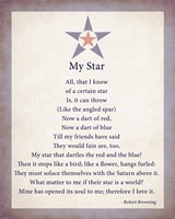 My Star by Robert Browning - color boarder - various sizes