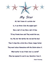 My Star by Robert Browning - white - various sizes