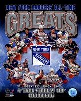 New York Rangers All-Time Greats Composite Framed Print