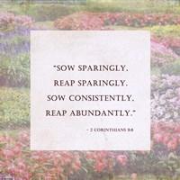 Sow Sparingly - floral frame Fine Art Print