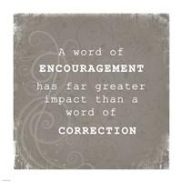 Encouragement Correction - various sizes