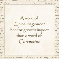 A word of Encouragement - square - various sizes