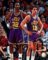 Karl Malone & John Stockton 1994 Action Fine Art Print