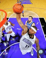 DeMarcus Cousins on the court 2012-13 Framed Print