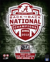 University of Alabama Crimson Tide 2013 BCS Back-To-Back National Champions Team Logo Fine Art Print