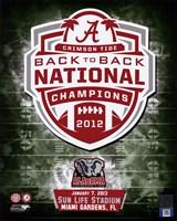 "University of Alabama Crimson Tide 2013 BCS Back-To-Back National Champions Team Logo - 8"" x 10"", FulcrumGallery.com brand"