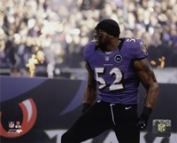 Ray Lewis pre-game introduction final game in Baltimore, January 6, 2013 Fine Art Print