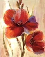 Flourescent Blooms I Framed Print