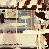 "Meet me in Paris by Kyle Mosher - 12"" x 12"" - $10.49"