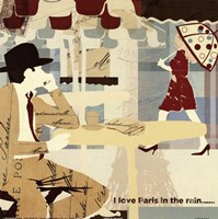 Paris in the Rain Fine Art Print