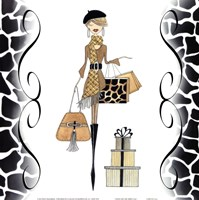 Sleek & Chic Beret Gal Fine Art Print