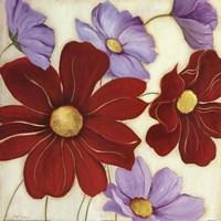 Lavender and Red I Framed Print