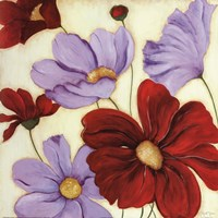 """Lavender and Red II by s - 20"""" x 20"""" - $15.99"""