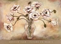 FLEURS EN VASE I Fine Art Print