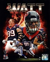 J.J. Watt 2013 Portrait Plus Framed Print