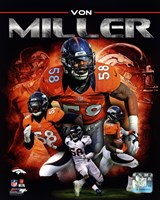 Von Miller 2013 Portrait Plus Framed Print