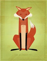 The Crooked Fox Framed Print