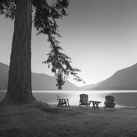 """Crescent Lake I by Moises Levy - 12"""" x 12"""""""