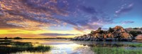 Willow Lake Spring Sunset Fine Art Print