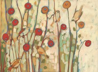 Five Little Birds Playing Amongst the Poppies Fine Art Print