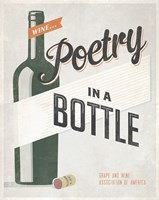 "Poetry in a Bottle by Luke Stockdale - 11"" x 14"""