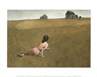 "Christina's World by Andrew Wyeth - 14"" x 11"""