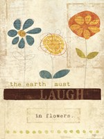 Laugh in Flowers Fine Art Print