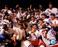 The New York Rangers 1994 Stanley Cup Champions Team Celebration Framed Print