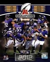 Baltimore Ravens 2012 AFC Champions Composite Fine Art Print