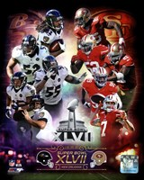 Super Bowl XLVII  Match Up Composite Fine Art Print