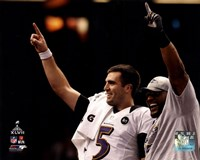 Joe Flacco & Ray Lewis Super Bowl XLVII Celebration Fine Art Print