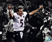 Joe Flacco Super Bowl XLVII Spotlight Celebration Fine Art Print
