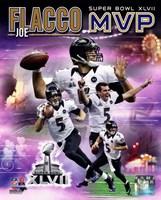 Joe Flacco Super Bowl XLVII MVP Portrait Plus Framed Print