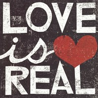 """Love Is Real Grunge Square by Michael Mullan - 12"""" x 12"""", FulcrumGallery.com brand"""