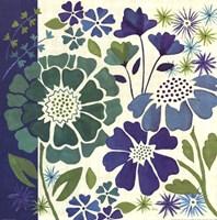 """Blue Garden I by Veronique Charron - 18"""" x 18"""""""