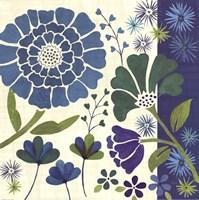 "Blue Garden II by Veronique Charron - 18"" x 18"""