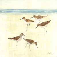 Sand Pipers Square II Fine Art Print