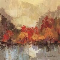Fall Riverside II Framed Print