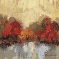 Fall Riverside I Framed Print