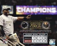 Ray Lewis Super Bowl XLVII Champion Overlay Fine Art Print