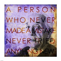 Einstein – Never Made a Mistake Quote by Cheryl Valentino - various sizes